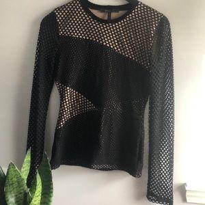 Bcbg long sleeve dressy shirt